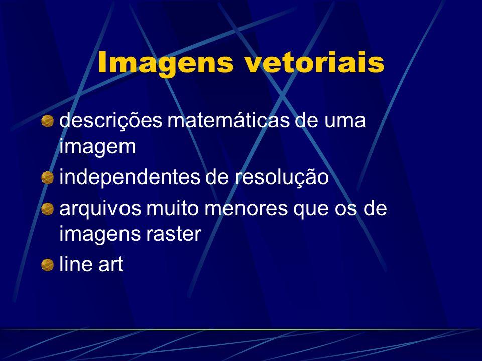 Imagens vetoriais descrições matemáticas de uma imagem
