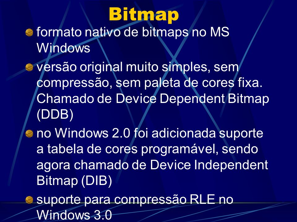 Bitmap formato nativo de bitmaps no MS Windows