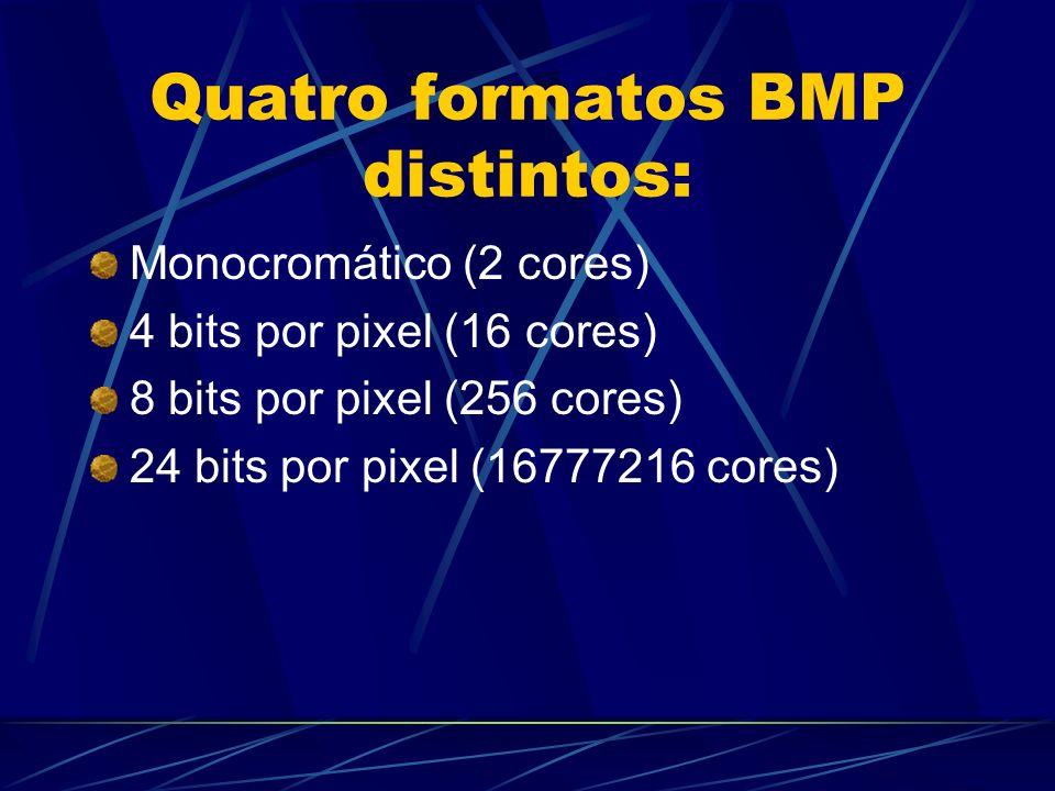 Quatro formatos BMP distintos:
