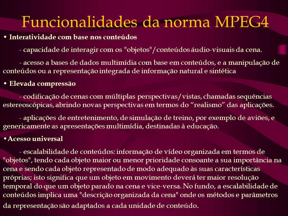 Funcionalidades da norma MPEG4