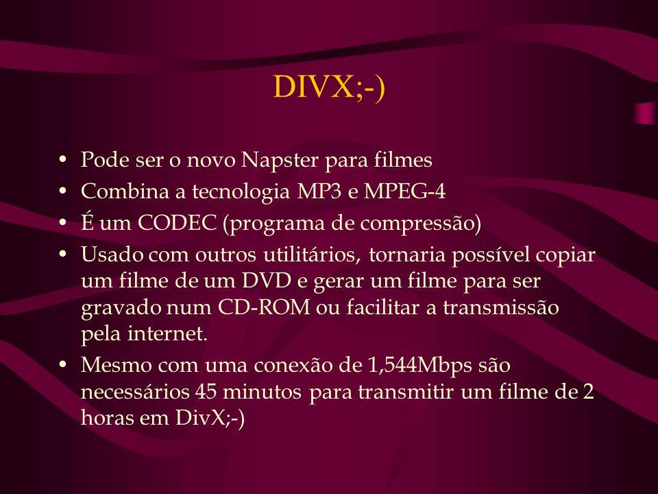 DIVX;-) Pode ser o novo Napster para filmes