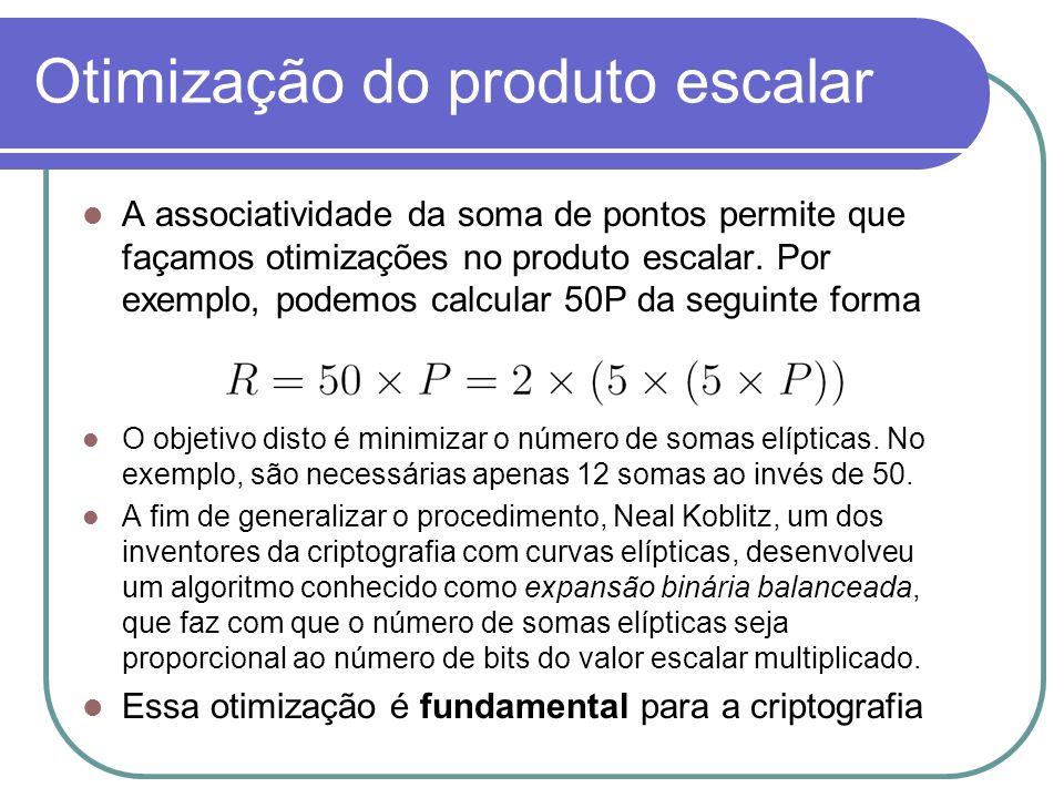 Otimização do produto escalar
