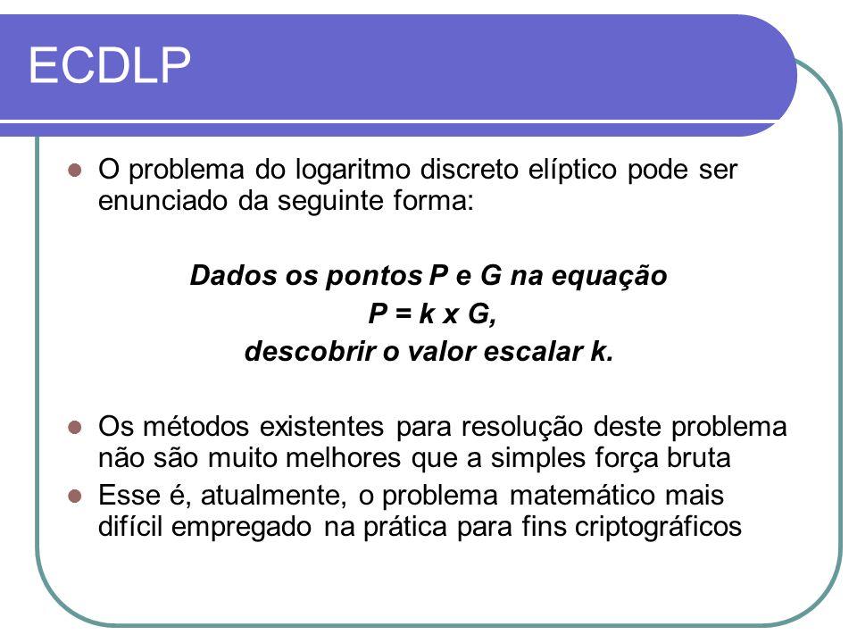 Dados os pontos P e G na equação descobrir o valor escalar k.