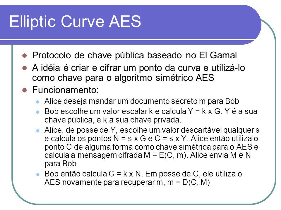 Elliptic Curve AES Protocolo de chave pública baseado no El Gamal