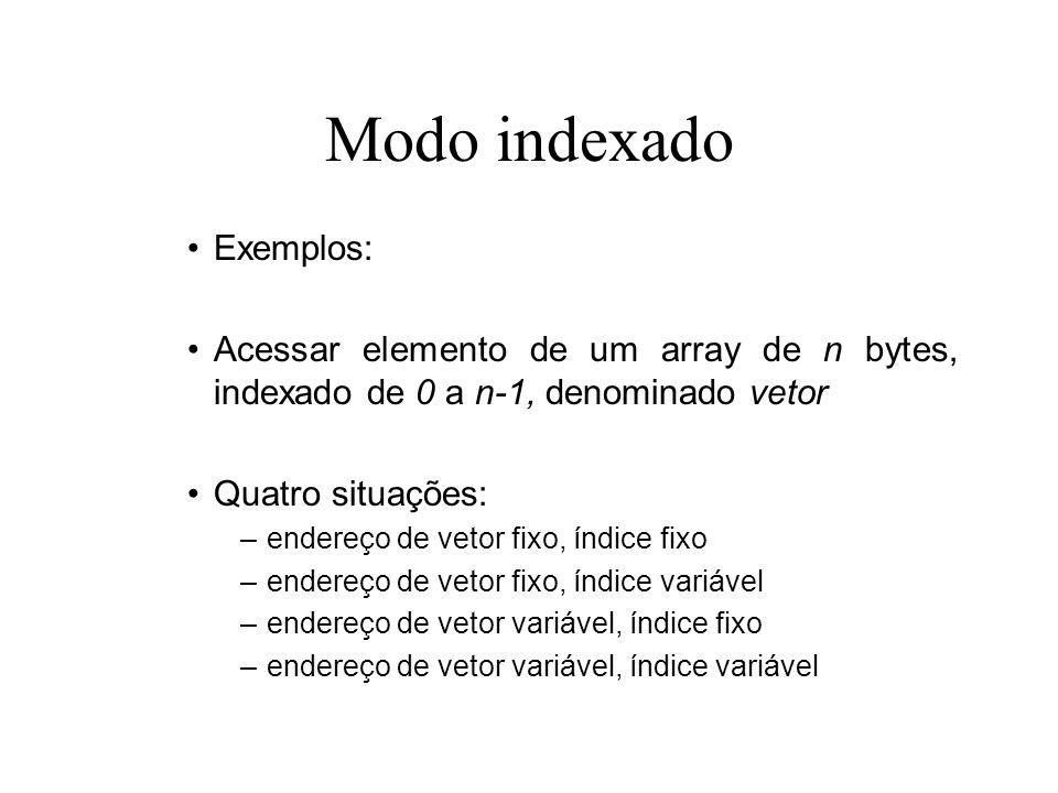 Modo indexado Exemplos: