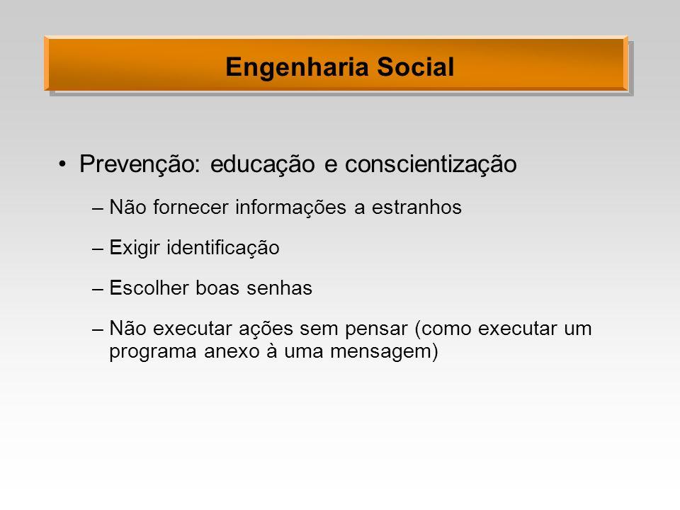 Engenharia Social Prevenção: educação e conscientização