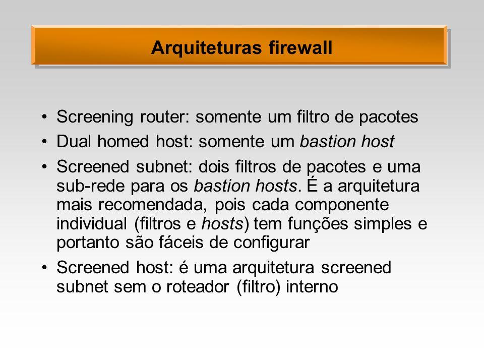 Arquiteturas firewall
