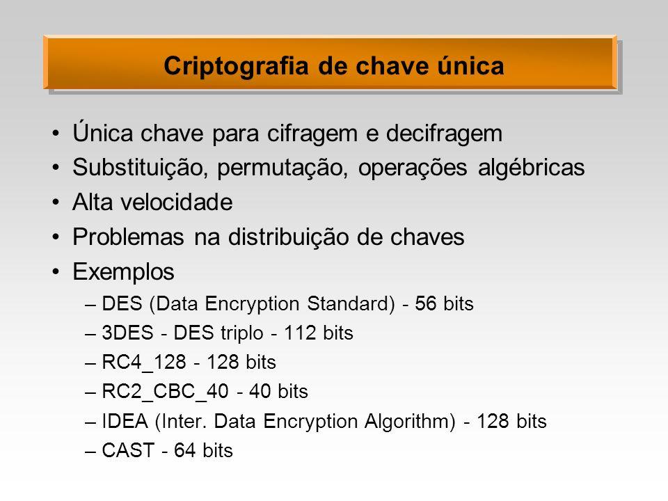 Criptografia de chave única