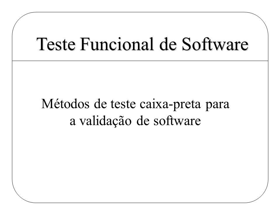 Teste Funcional de Software