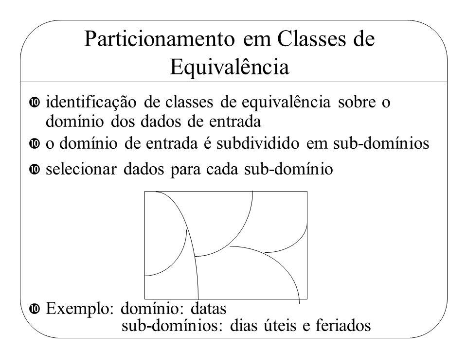 Particionamento em Classes de Equivalência