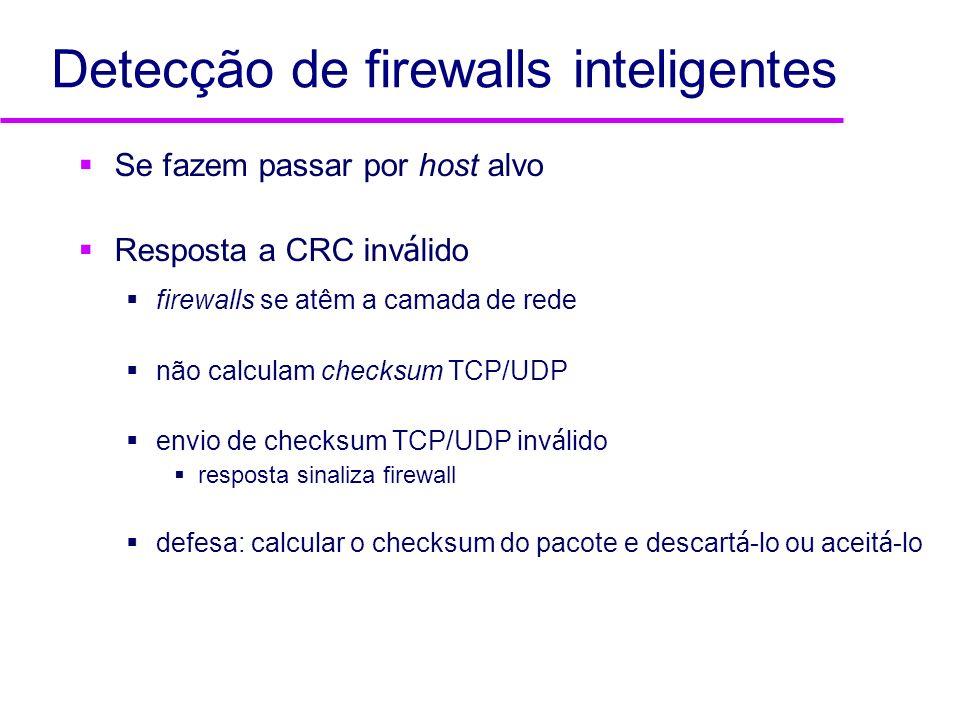Detecção de firewalls inteligentes