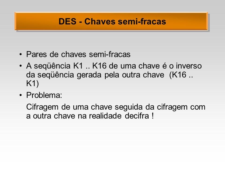 DES - Chaves semi-fracas