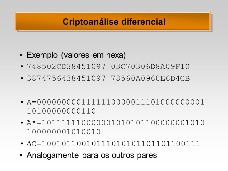 Criptoanálise diferencial