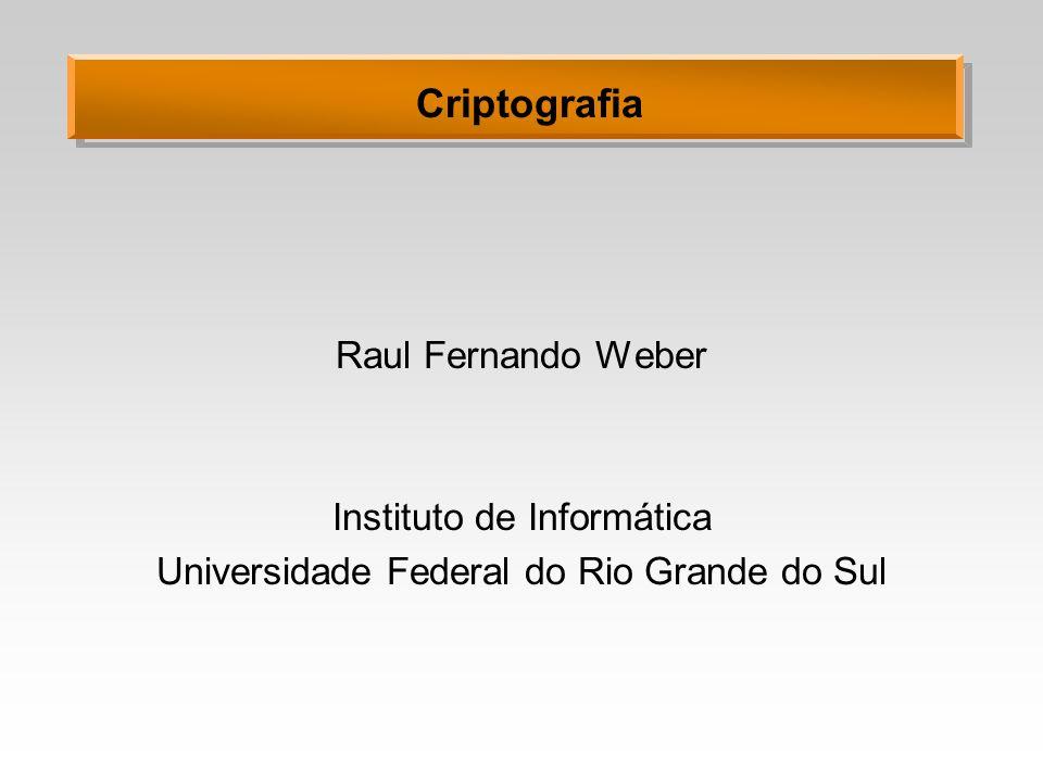 Criptografia Raul Fernando Weber Instituto de Informática