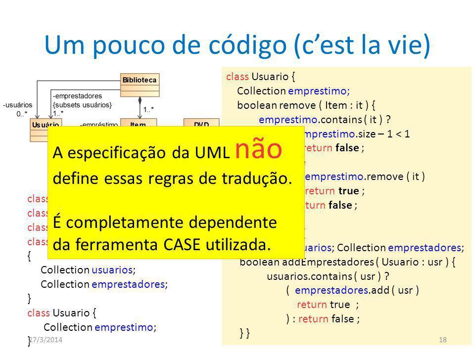 Um pouco de código (c'est la vie)