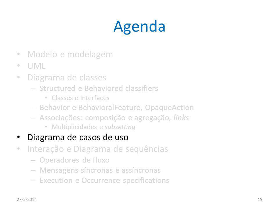 Agenda Modelo e modelagem UML Diagrama de classes