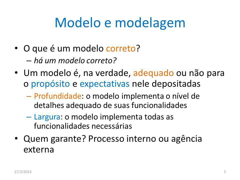Modelo e modelagem O que é um modelo correto