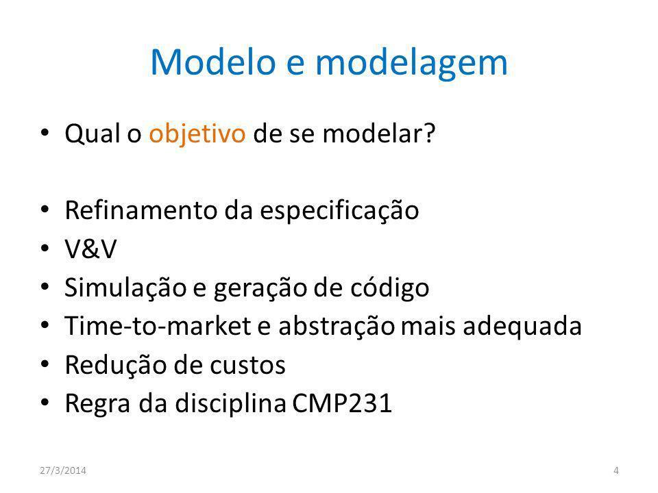Modelo e modelagem Qual o objetivo de se modelar
