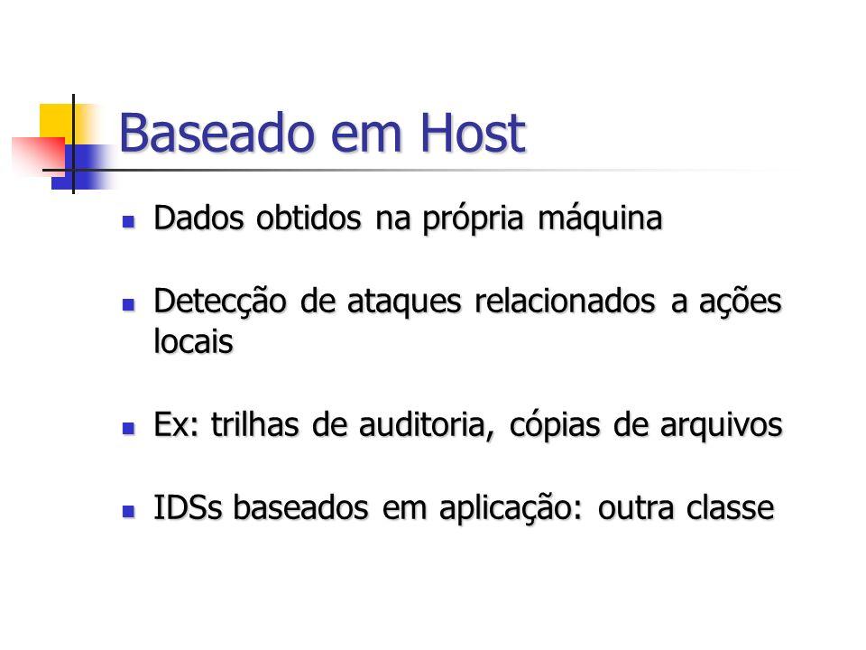 Baseado em Host Dados obtidos na própria máquina