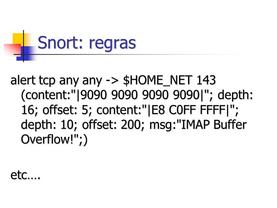 Snort: regras