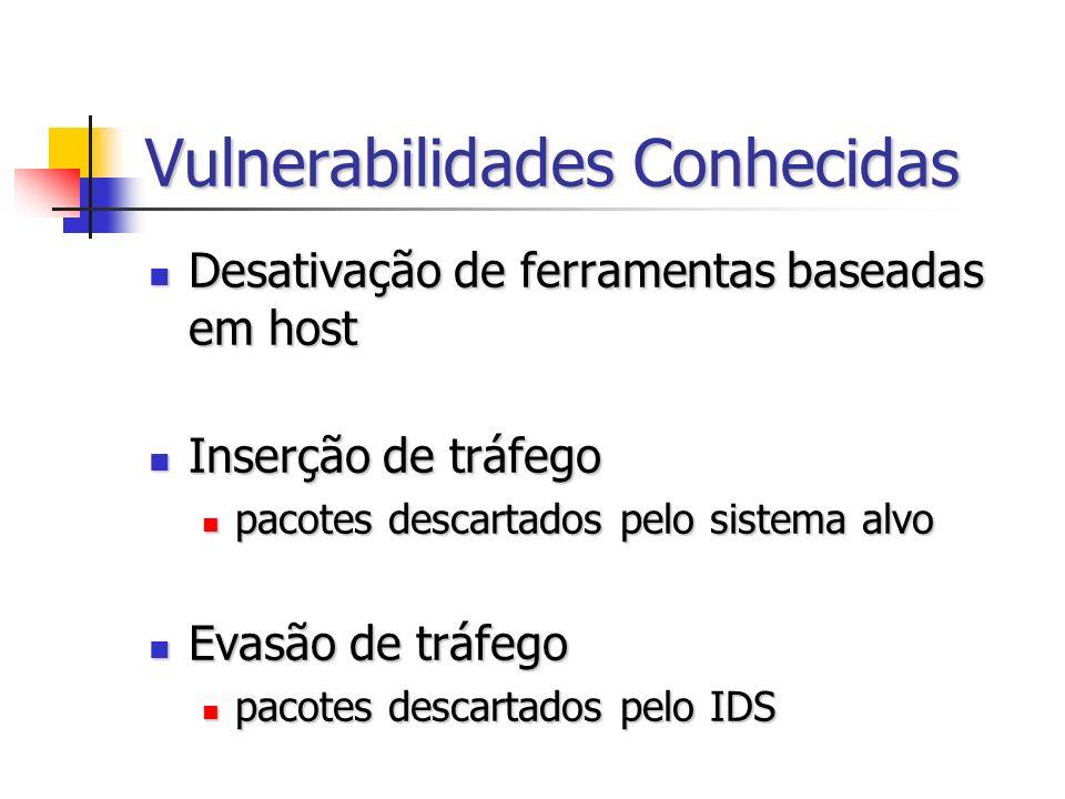 Vulnerabilidades Conhecidas