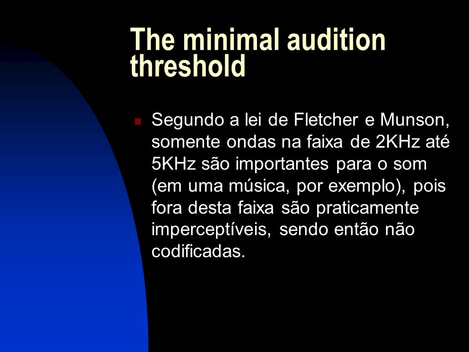 The minimal audition threshold