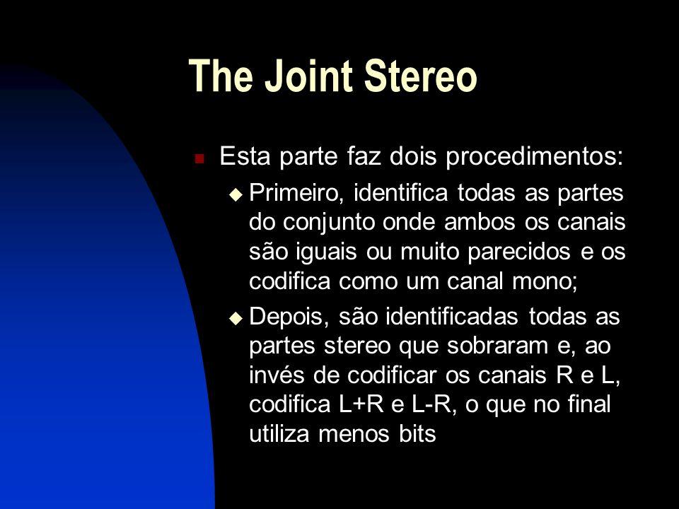 The Joint Stereo Esta parte faz dois procedimentos: