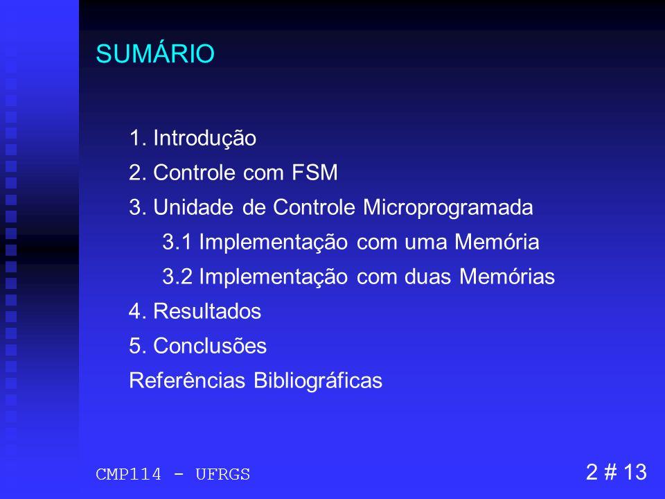 SUMÁRIO 1. Introdução 2. Controle com FSM