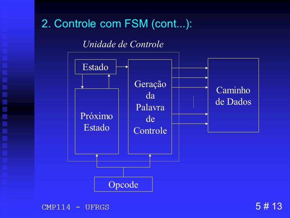 2. Controle com FSM (cont...):