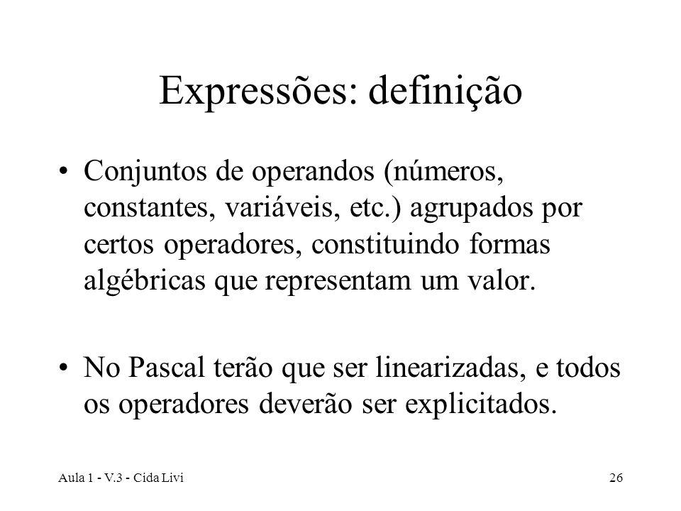 Expressões: definição
