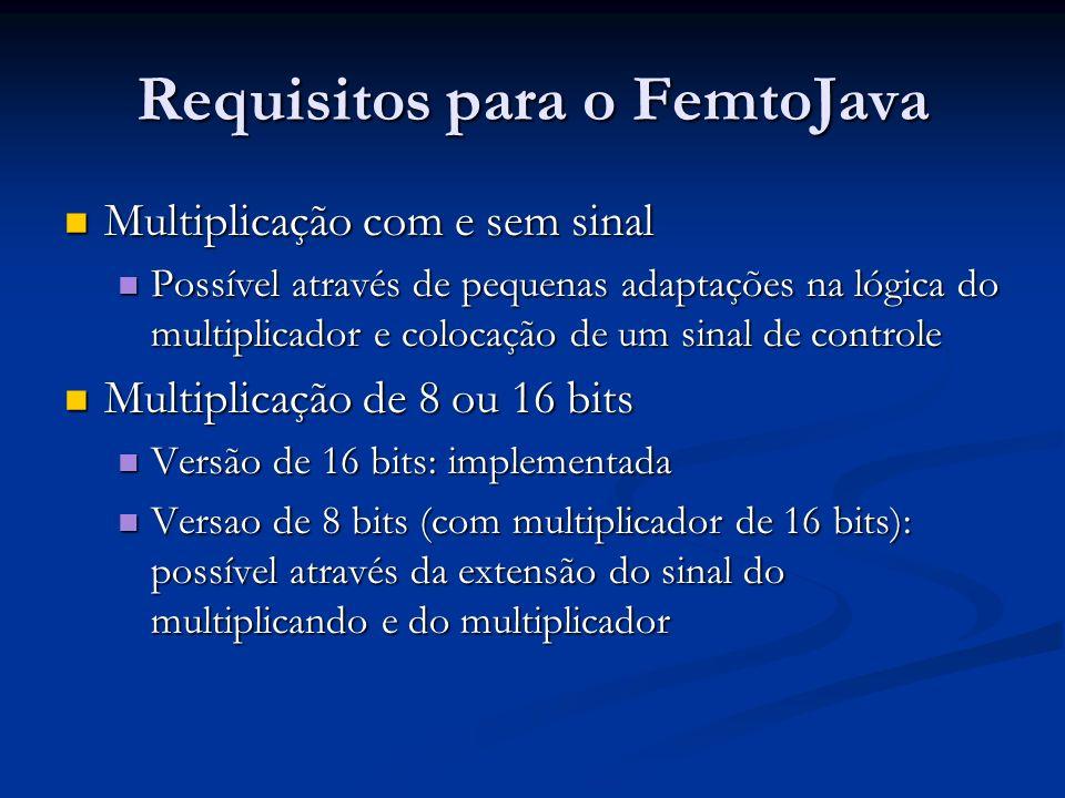 Requisitos para o FemtoJava