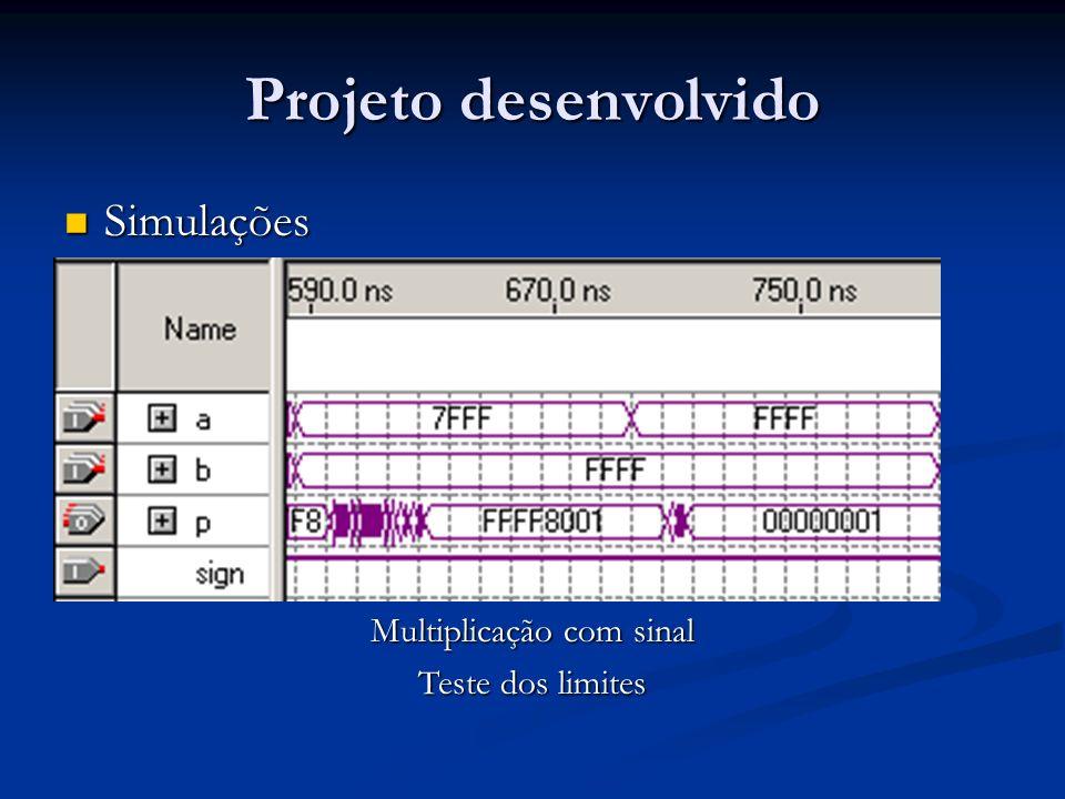 Multiplicação com sinal