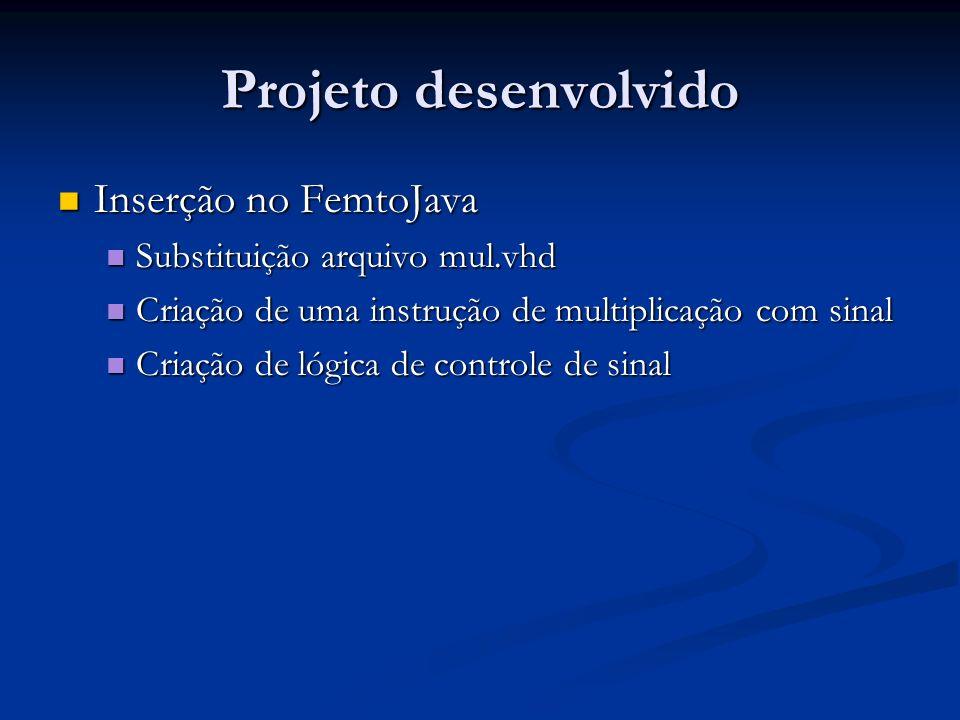 Projeto desenvolvido Inserção no FemtoJava