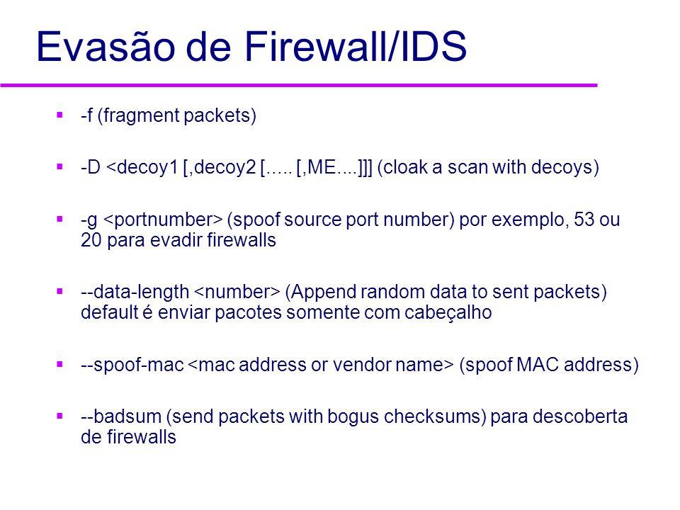 Evasão de Firewall/IDS