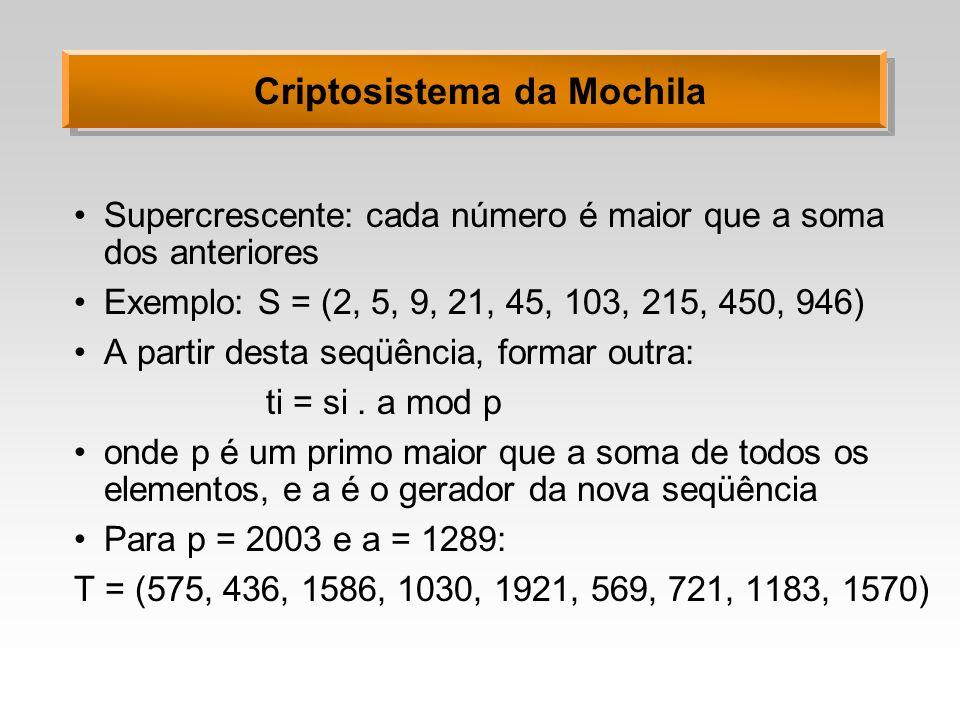 Criptosistema da Mochila