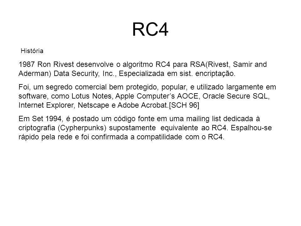 RC4 História.