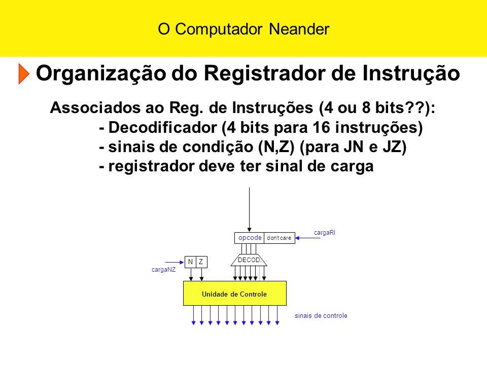 Organização do Registrador de Instrução