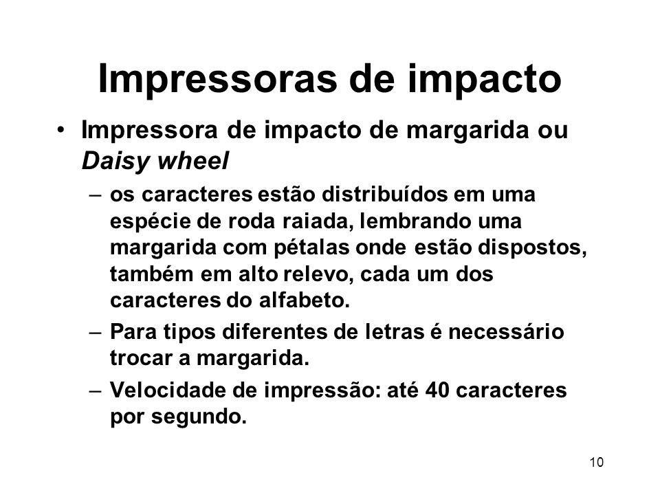 Impressoras de impacto