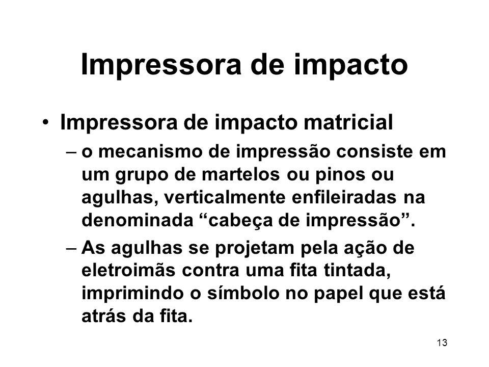 Impressora de impacto Impressora de impacto matricial