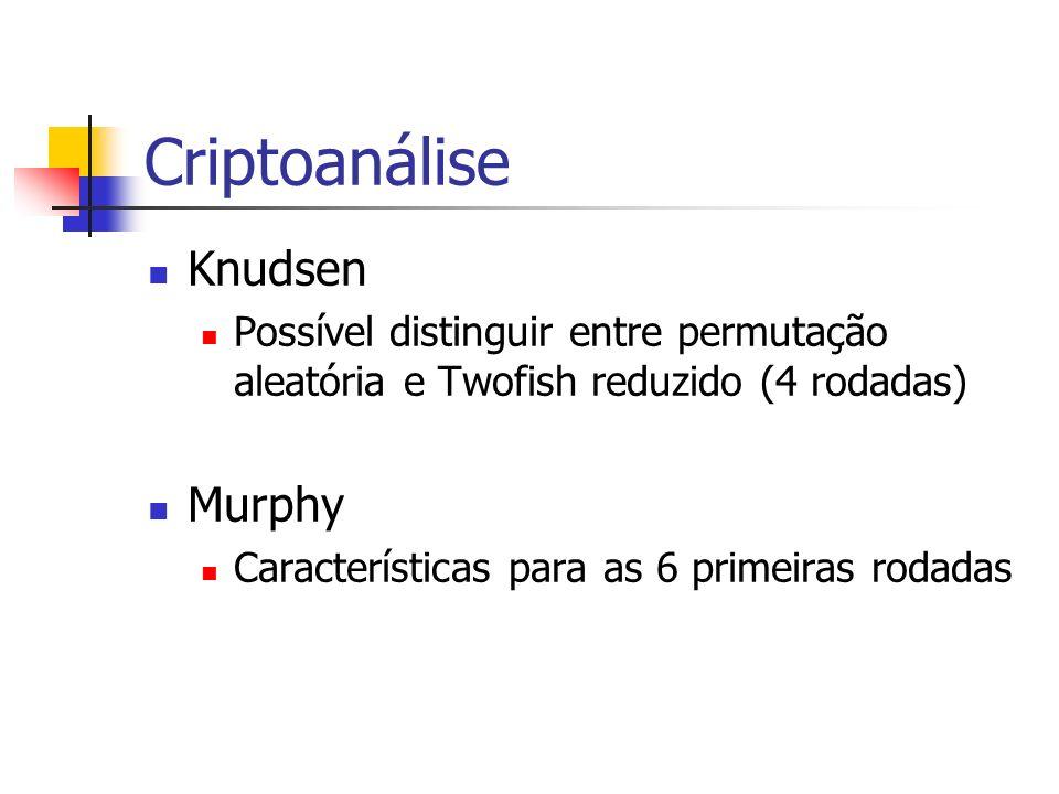 Criptoanálise Knudsen Murphy