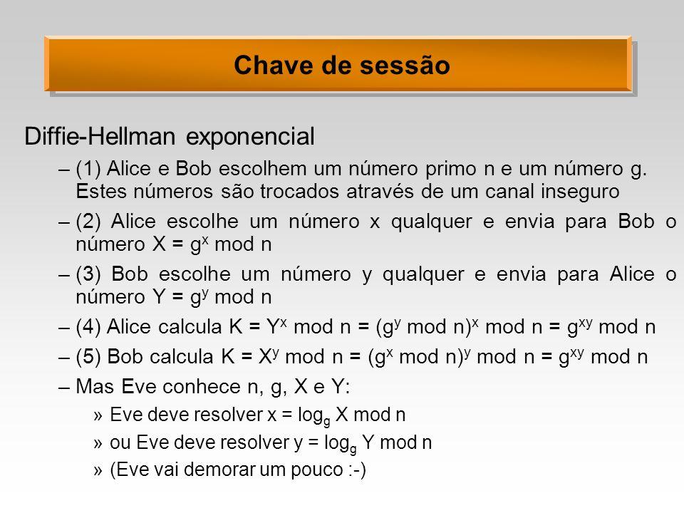Chave de sessão Diffie-Hellman exponencial