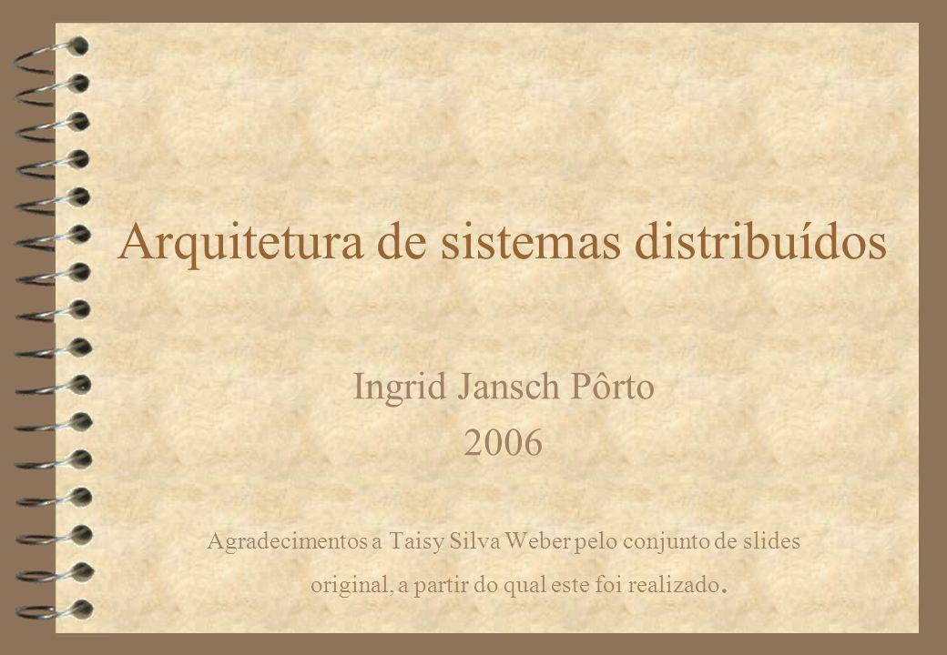 Arquitetura de sistemas distribuídos