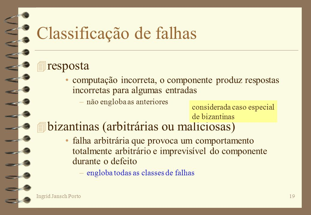 Classificação de falhas