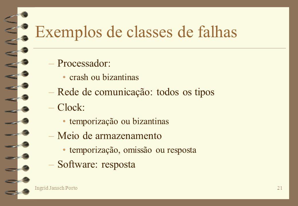 Exemplos de classes de falhas