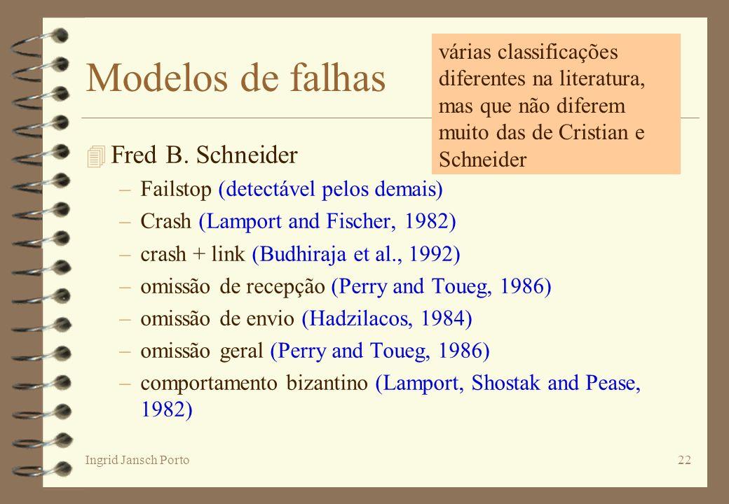 Modelos de falhas Fred B. Schneider