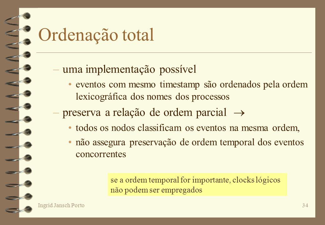 Ordenação total uma implementação possível