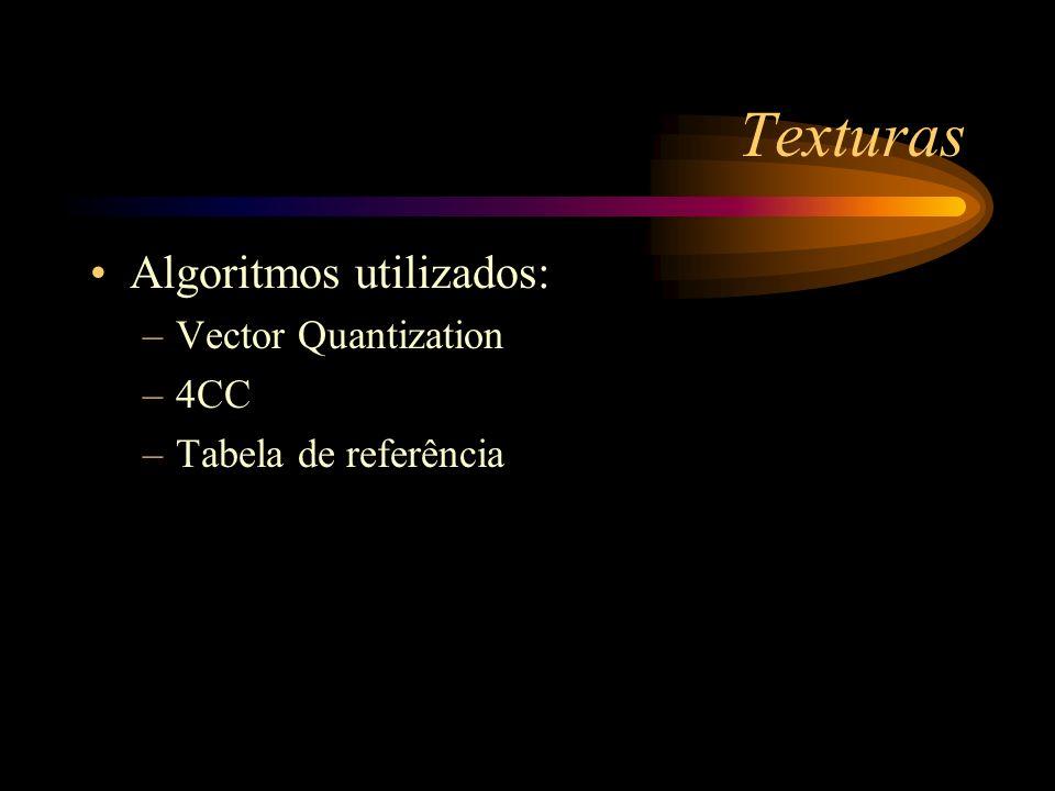 Texturas Algoritmos utilizados: Vector Quantization 4CC