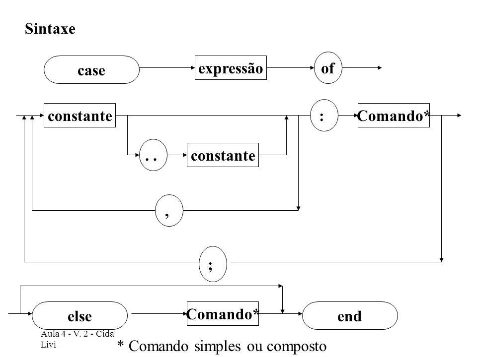 * Comando simples ou composto