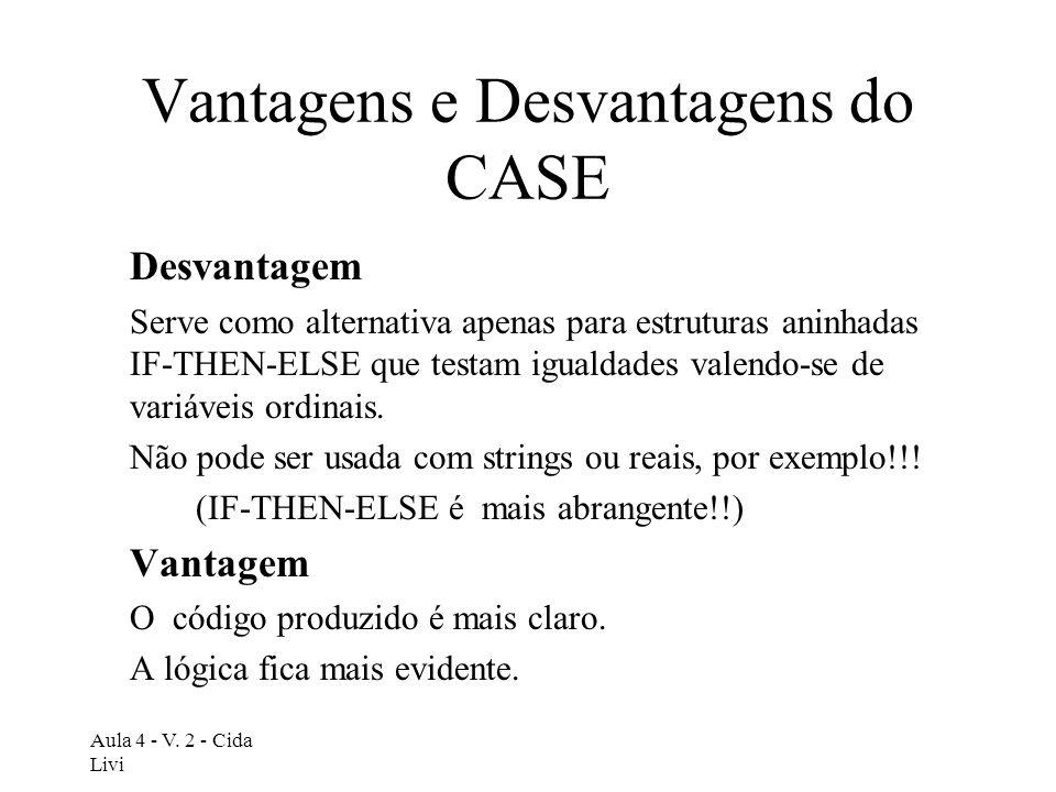 Vantagens e Desvantagens do CASE